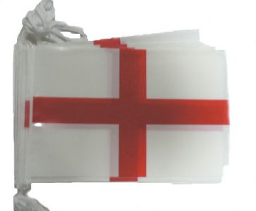 England St. George Bunting - 33ft/10m - 20 plastic flags-0