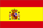 Spain flag with crest