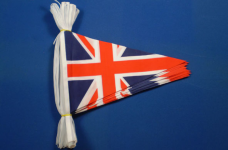 UK Union Jack/Flag 65ft/20m Polyester Pennant Bunting-0