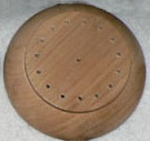 round wooden table flag base