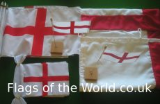 England sewn flags, table flags and hand flags