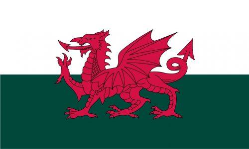 Wales sewn flag