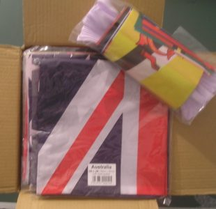 Commonwealth games flags and bunting