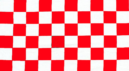 Chequered Flag - Red & White