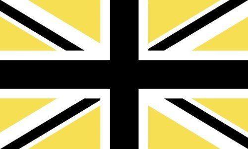 Union Jack/Flag - Black & Yellow