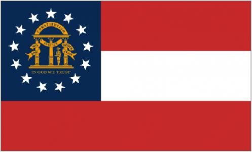 Georgia state flag - USA
