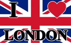 I Love London Union Jack Flag