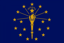 Indiana state flag - USA