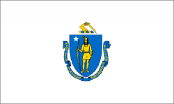 Massachusetts state flag - usa