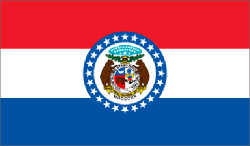 Missouri state flag - usa