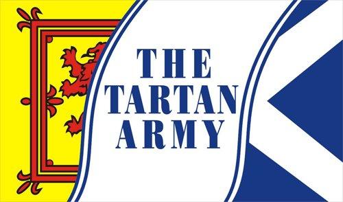 Scotland tartan army flag