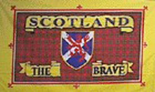 Scotland the brave tartan flag