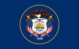 Utah state flag - usa