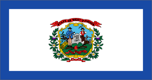 West Virginia state flag - usa