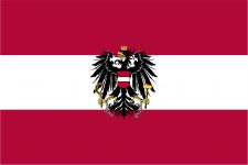 Austria Flag 5ft x 3ft (with Eagle) -0