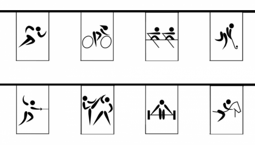Sports Pictograms - 30ft/9m Polyester Bunting-0