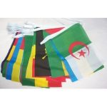 African bunting flags