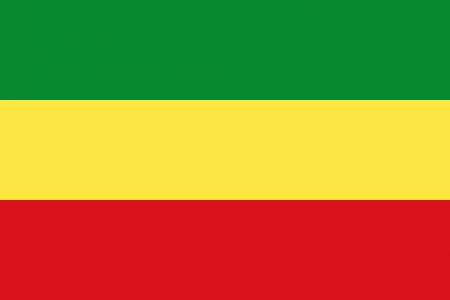 Ethiopia flag plain no star