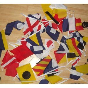 Marine code bunting for sailing boats and yachts