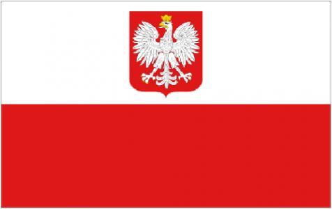 Poland state flag eagle
