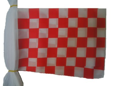 red and white chequered flag bunting