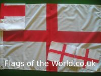 English flags and bunting