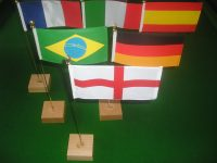 World Cup 2014 table flag collection