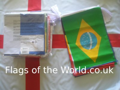world cup flags and giant bunting