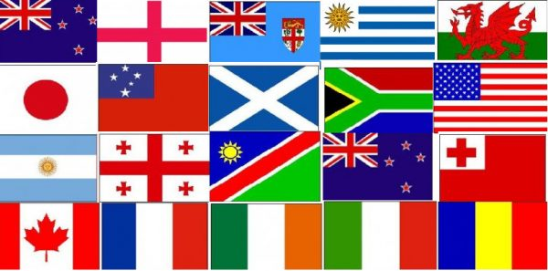 2015 Rugby World Cup polyester Bunting with all 20 Flags
