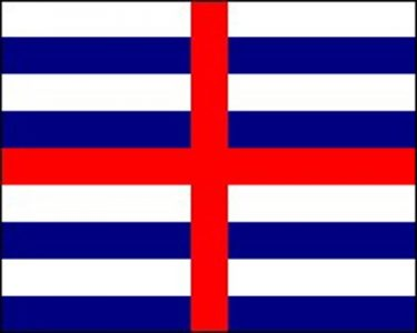 Striped Ensign Blue/White Flag
