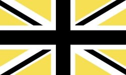 Union Jack/Flag - Black & Yellow