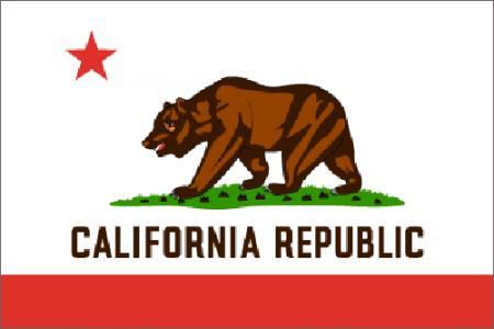 California state flag - USA
