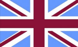 Union Jack/Flag - Claret & Sky Blue