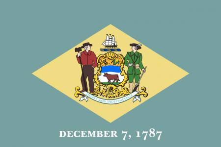 Delaware state flag - USA