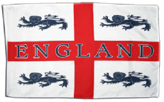 England 4 lions football flag