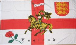 England rose and lion flag