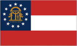 Georgia state flag - USA