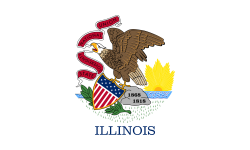 Illinois state flag - USA