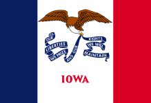 Iowa state flag - USA