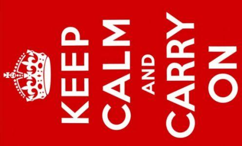 Keep Calm And Carry On Flag
