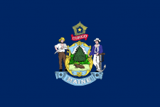 maine state flag - usa