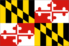 Maryland state flag - usa