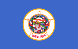Minnesota state flag - usa