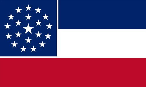 Mississippi state flag - usa