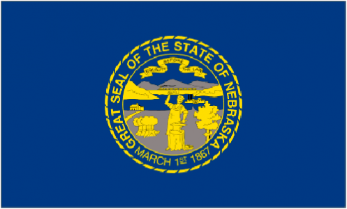 Nebraska state flag - usa