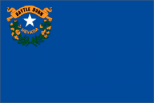 Nevada state flag - usa