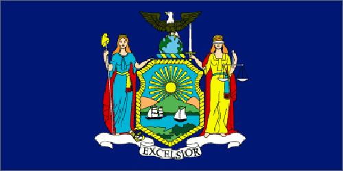 New York state flag - usa