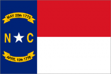 North Carolina state flag - usa