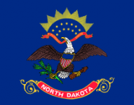 North Dakota state flag - usa