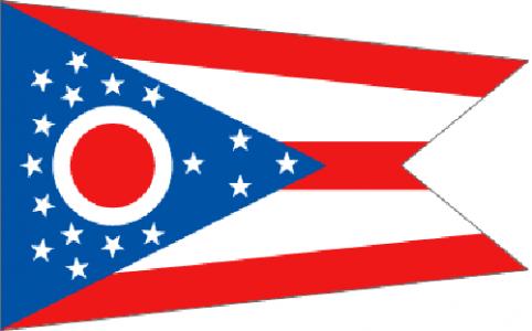 Ohio state flag - usa
